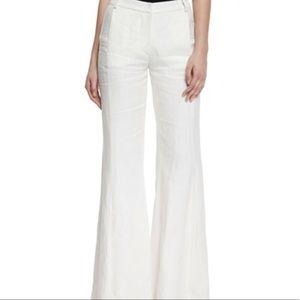 Alexis Designer Linen Flare Pants Size XS